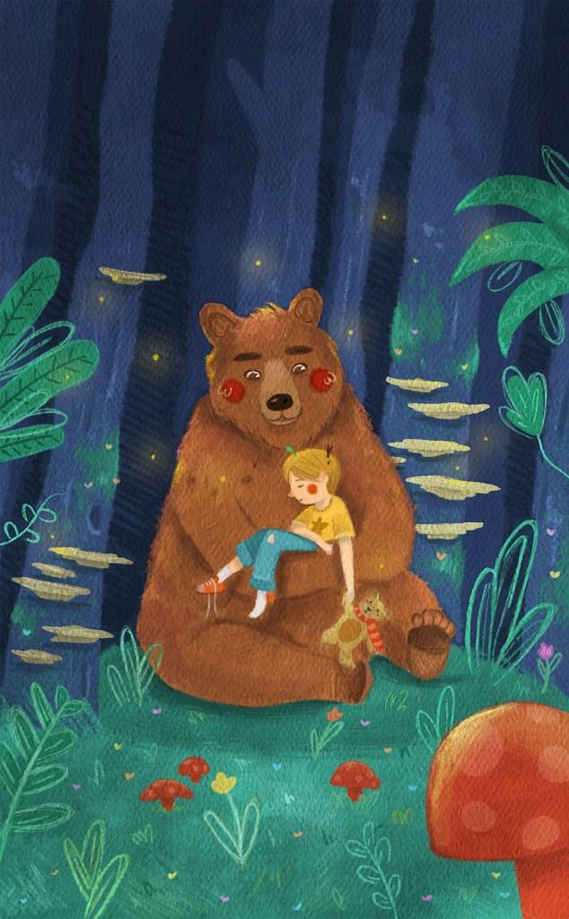 Bear Hug Medium Digital Size 5 x 8 inches