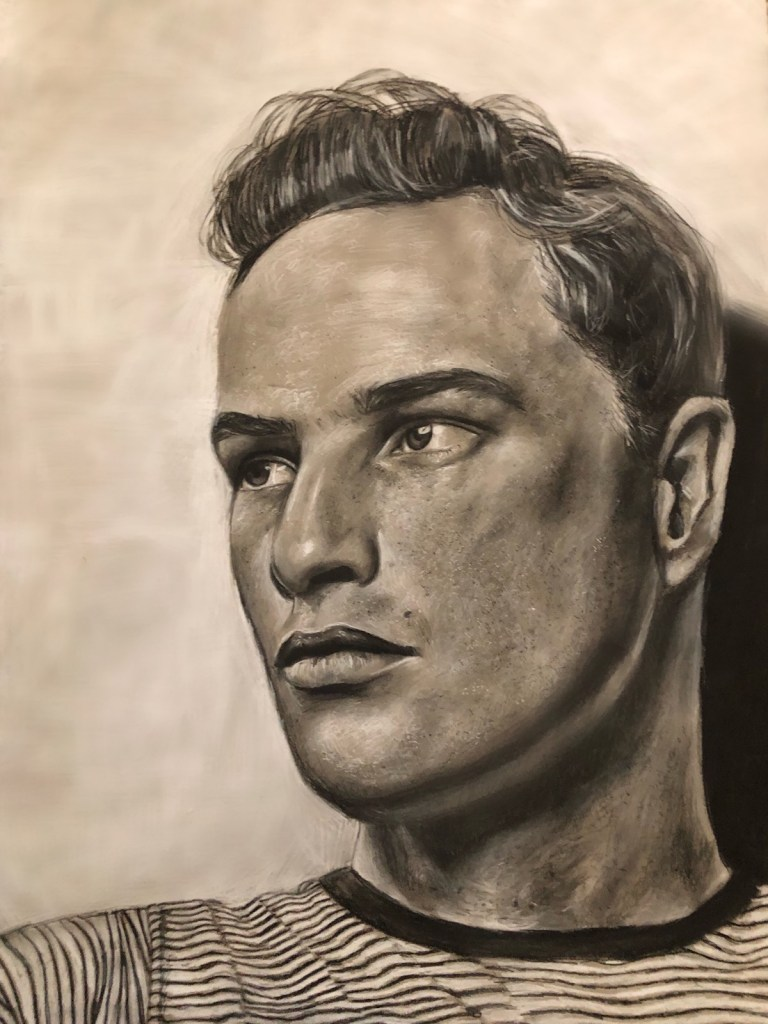 Marlon Medium Charcoal Size 18x24