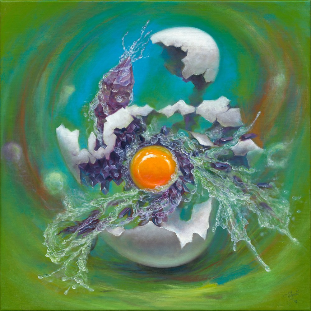 The possibility of an egg Medium Oil on Canvas Size 60x60cm