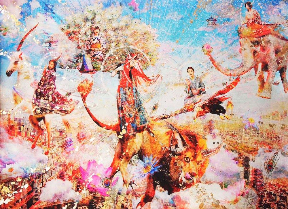 Neo Bodhisattva Medium Mixed Media Size 103×146 cm