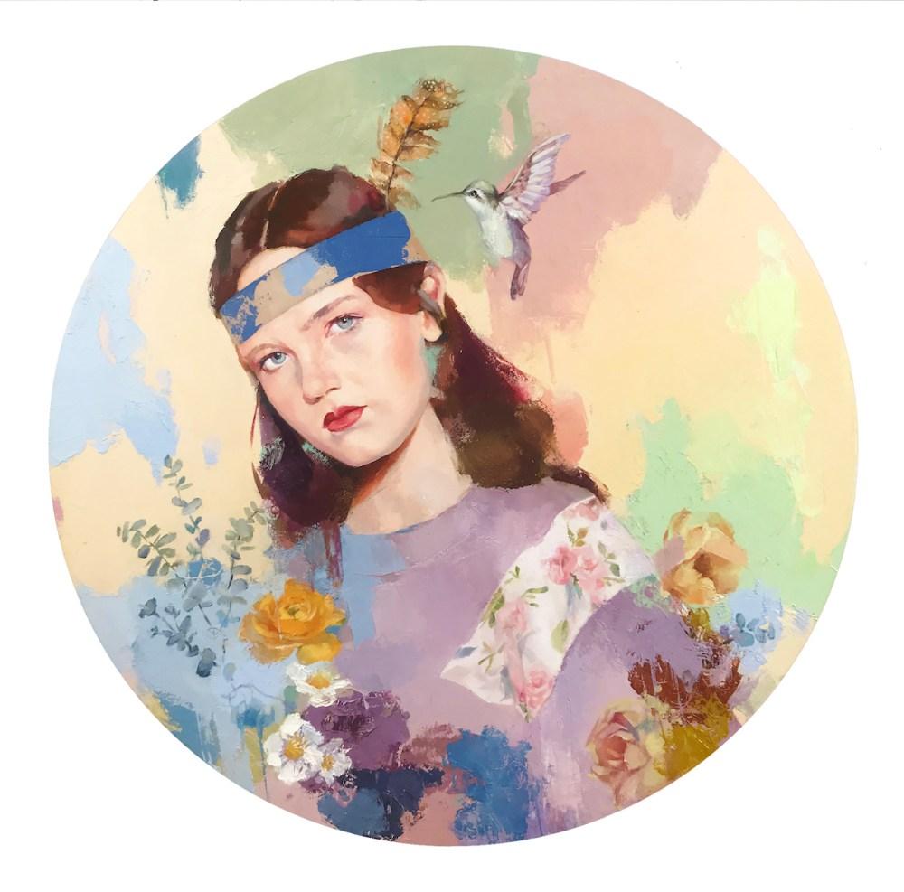Good bye Medium oil painting Size 18x18