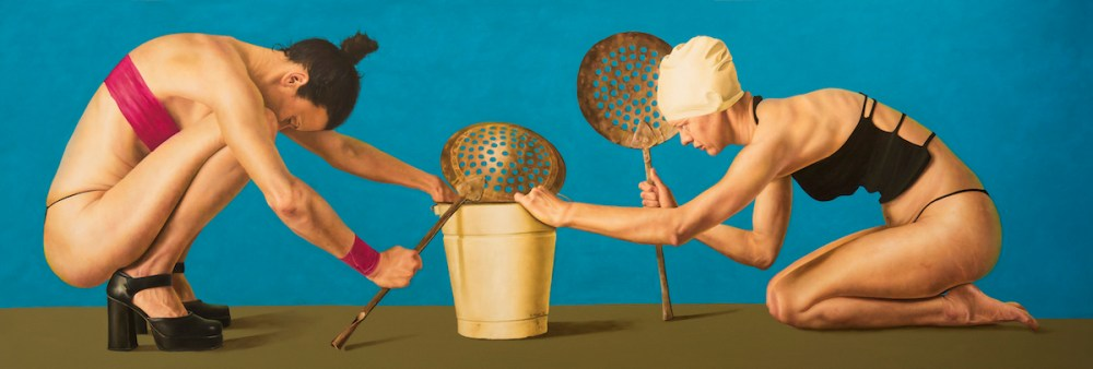 The Bucket Medium oil on Panel Size 86cm x 230cm