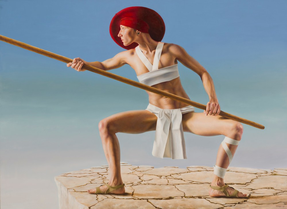 Stickfighter Medium Oil on Panel Size 125cm x 170cm