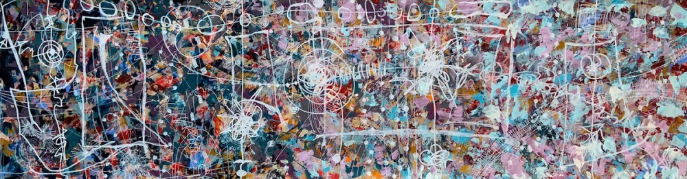 Song of Life Medium Acrylic on Paper Size 51 in L x 14 in H