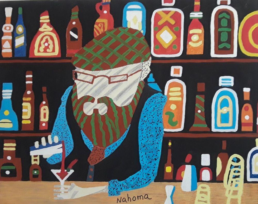 Cocktail Time Medium Acrylic on cCanvas