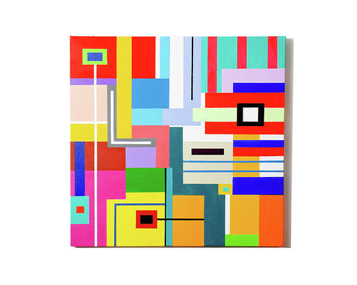 Shapes and Colors #5 Medium Acrylic on canvass Size 24 x 24 x 1.5