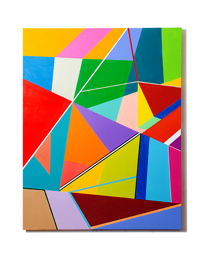 Shapes and Colors #4 Medium Acrylic on Canvas Size 40 x 30 x 1.5