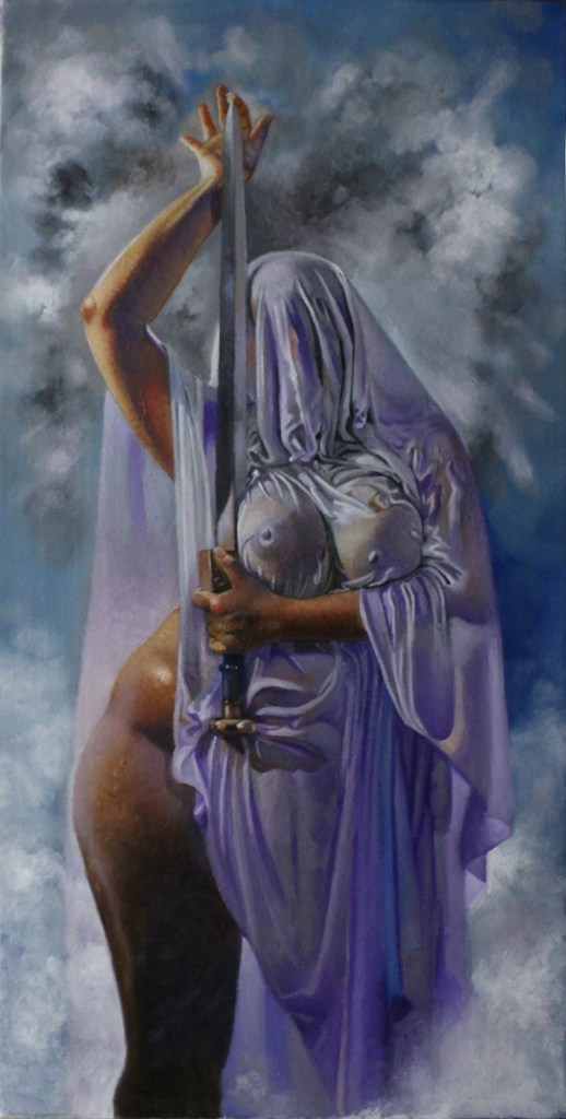 Queen of Swords | oil on canvas | 15x30