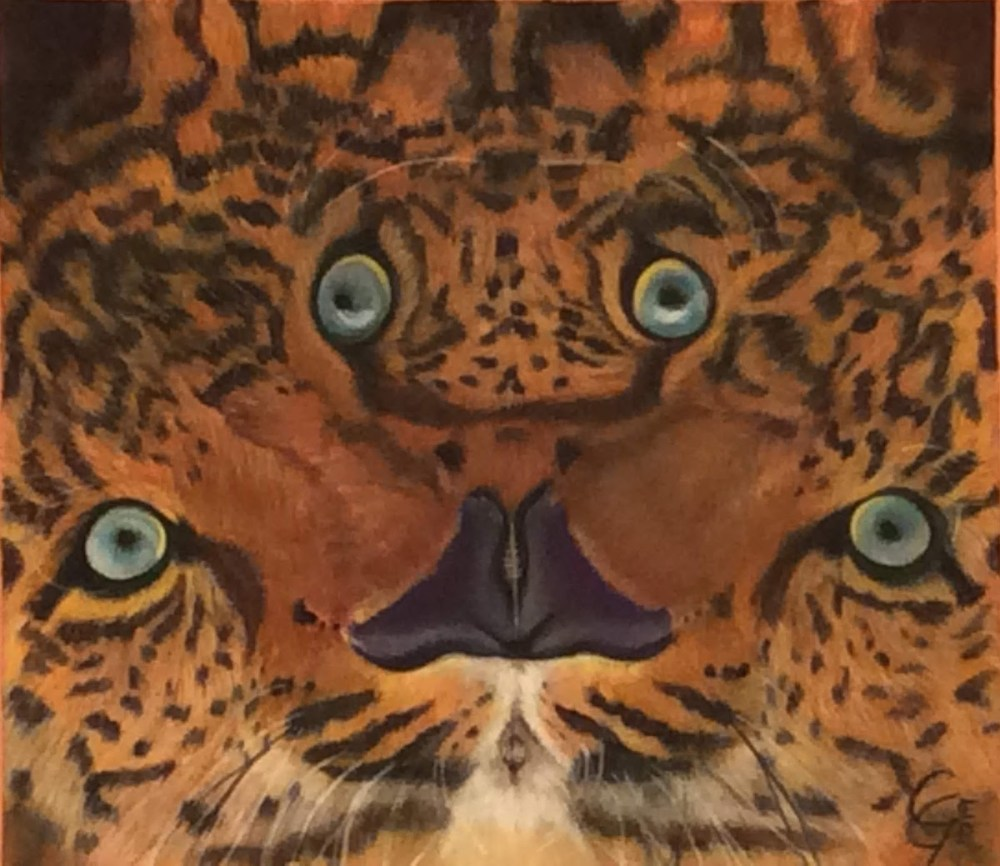 The Leopard's Illusion | Acrylic on Canvas | w10n x h 9in