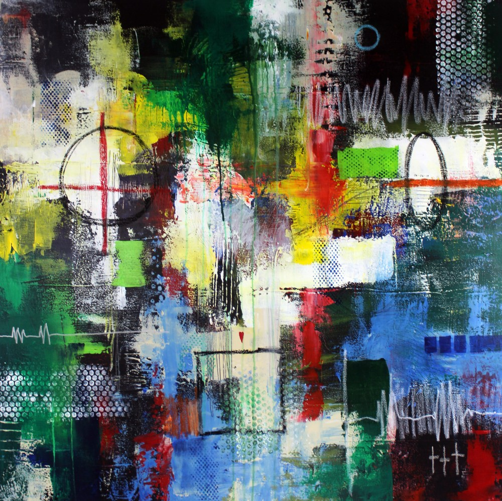 The Day The Earth Stood Still | Mixed media on gallery wrapped canvas | 38 x 38 x 1.50 inches