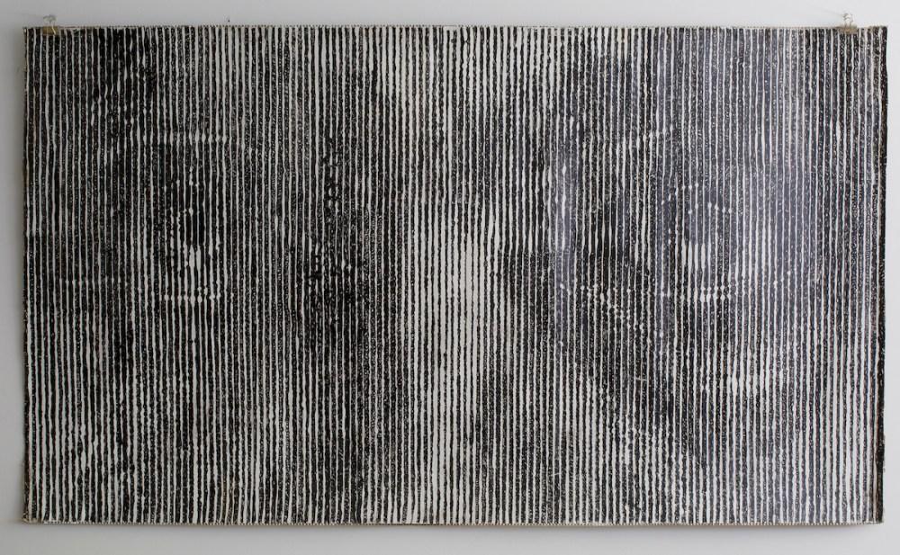 Memento Mori aka ad Verbum [?] v.9.21  | Mixed Media over Paper | 100 x 169 cm.