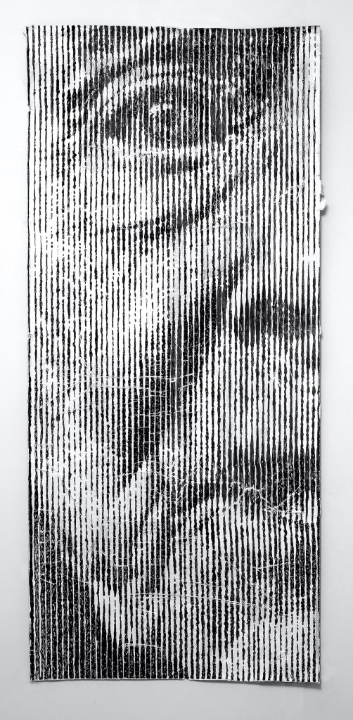 S… like Solveig aka What [?] If [?] or a New Grate v.6.24 Medium Mixed Media over Paper Size 205 x 100 cm VERTICAL