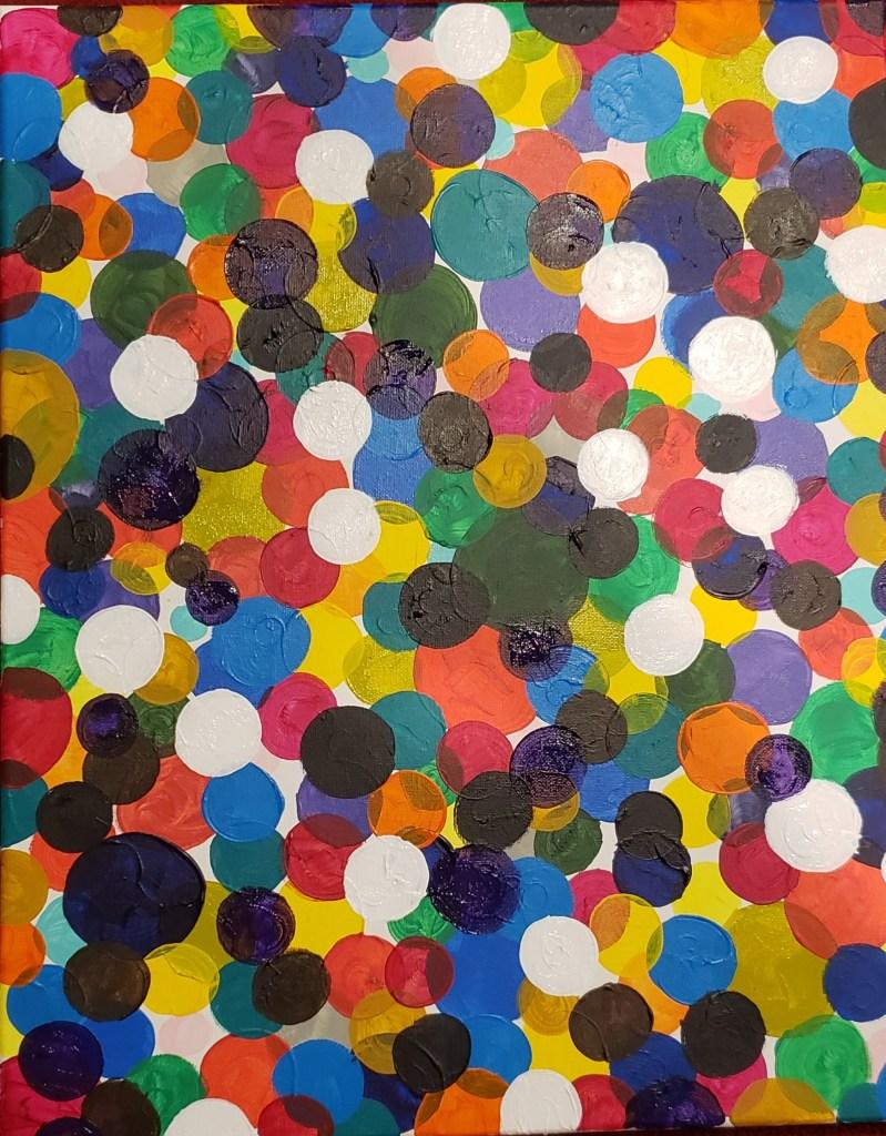 Dots | Mixed media | 16 x 25
