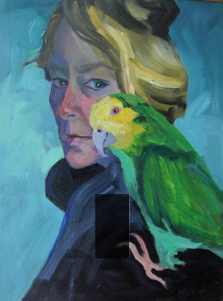 Me on the Shoulder of an Artist   Oil on canvas   24 x 18 Inches