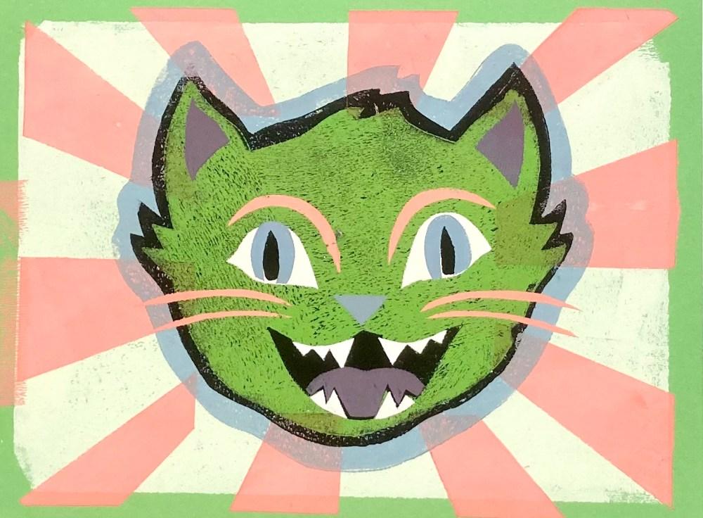 Karnival Kitty | Print on Paper | 9X12