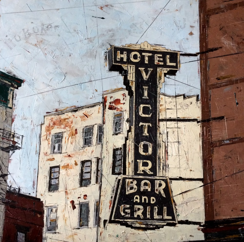 Hotel Victor | Oil on panel | 12 x 12 inches