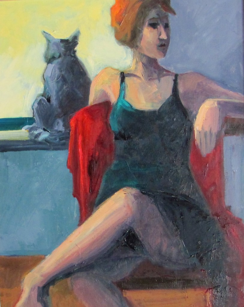 Cat in the Window Oil on canvas | 30 x 24 inches
