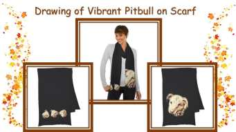 It's just not Fall if you don't have a stylish scarf to show off! http://www.zazzle.com/drawing_of_vibrant_pitbull_on_scarf-256142236531585459