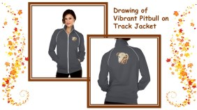 Channel your inner pitbull and stay warm! http://www.zazzle.com/drawing_of_vibrant_pitbull_on_track_jacket-235920866242912279