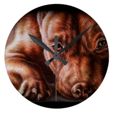 http://www.zazzle.com/brown_pitbull_face_drawing_of_pet_portrait_dog_clock-256832910627070210