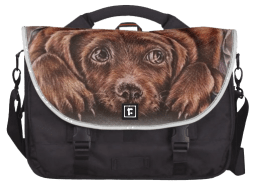 http://www.zazzle.com/cute_drawing_of_brown_labrador_dog_in_blanket_laptop_bag-256848452168954960