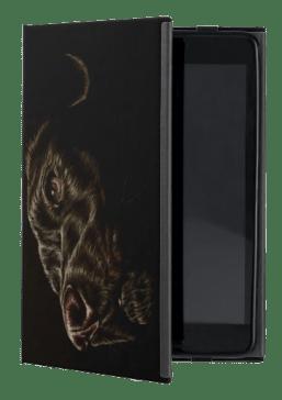 http://www.zazzle.com/drawing_of_black_dog_on_ipad_mini_case-256660717750585639