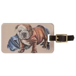 http://www.zazzle.com/cute_bulldog_puppy_with_blue_blanket_drawing_luggage_tag-256505919498247360
