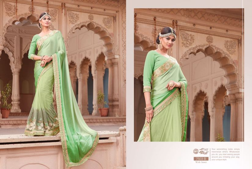 Palav Fabric Designer Saree PP7503B
