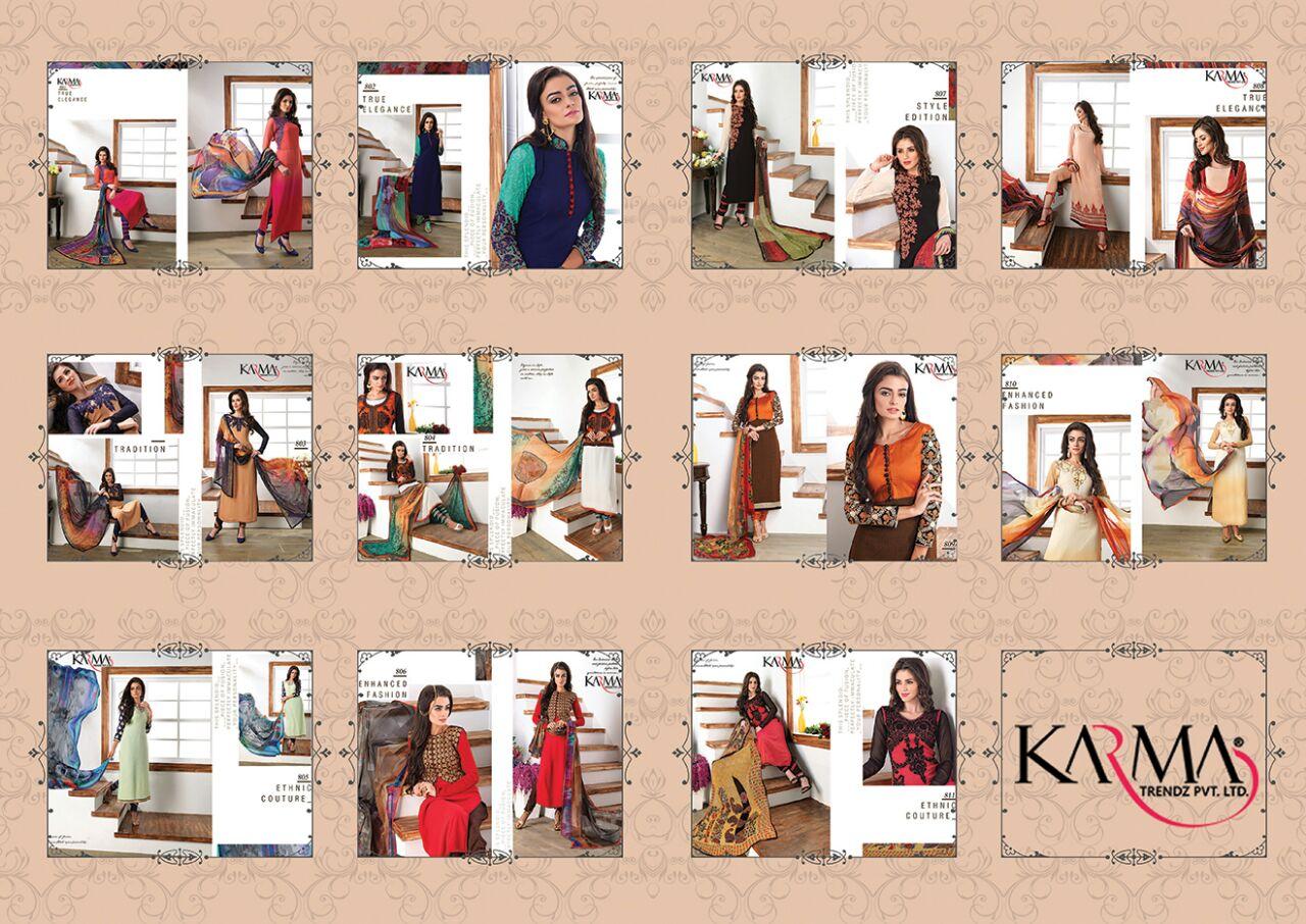Karma Trends Fusion Salwar Suits