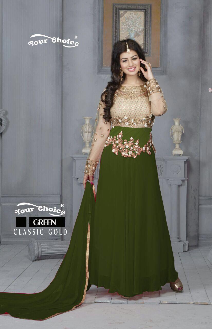Ayesha Takia in Green Floor Length Anarkali suit