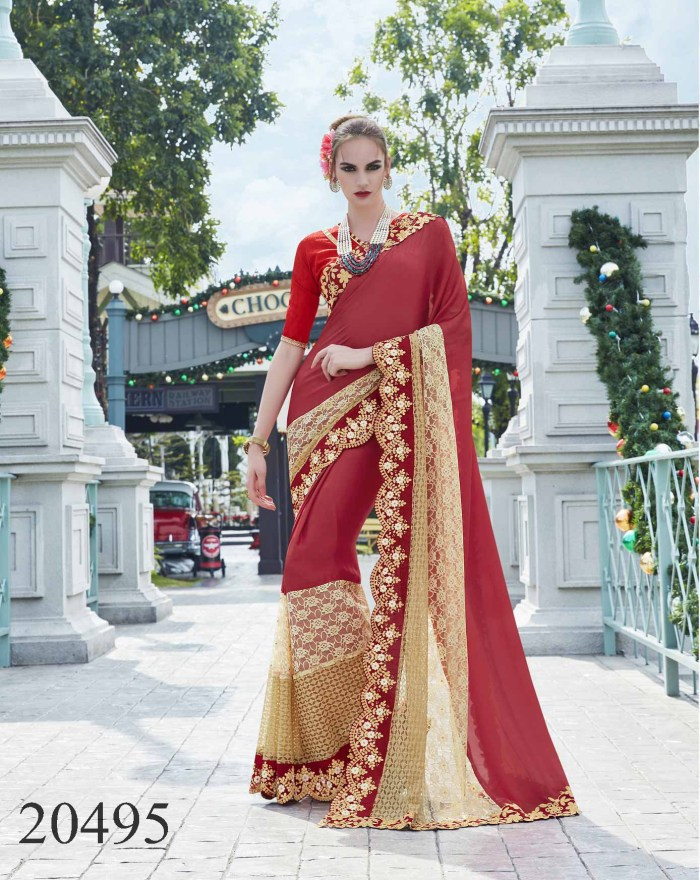 Big Embroidered Border Saree Noopur 20495