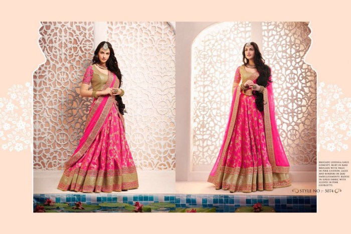 Nakkashi Ethnic v2 Lehenga Saree 5074 | Brides Wear