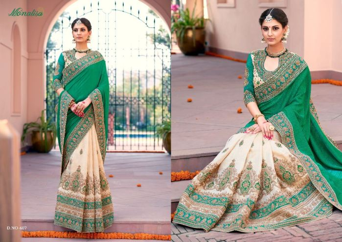 Monalisa v6 Bridal Sarees MM607 | Bridal Wear for LadiesShop Online Monalisa v6 Bridal Sarees MM607 @ArtistryC | Best Price: Rs 5995 or $ 100 | Free shipping in India - International shipping