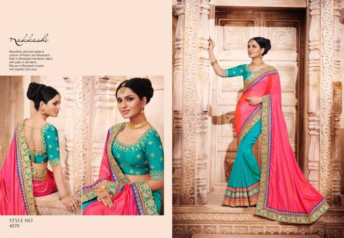 Nakkashi Elegance Euphony Designer Saree 4070 | Party Wear for LadiesShop Online Nakkashi Elegance Euphony Designer Saree 4070 @ArtistryC | Best Price: Rs 3979 or $ 66 | Free shipping in India - International shipping