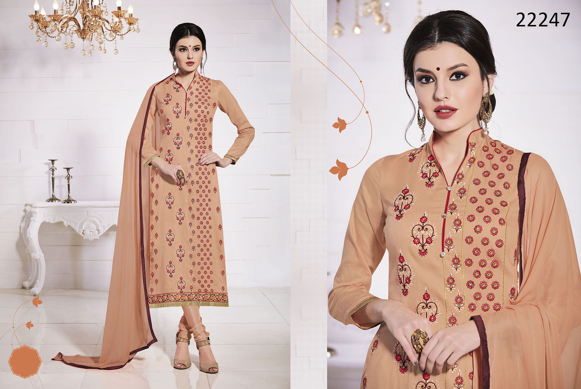 Glace Cotton Dress Material Talisa 22247 Ramdan Special
