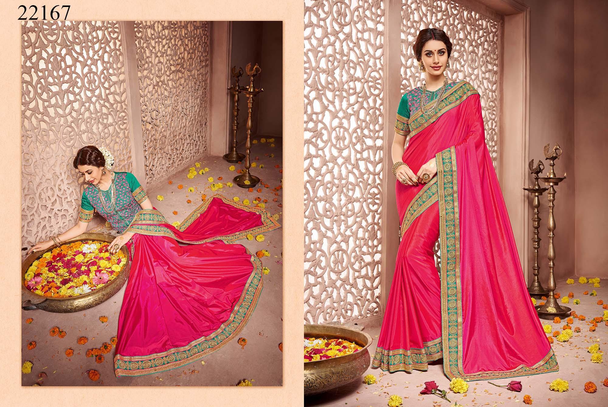 Newly Wedded Bridal Saree Dania 22167   Bride Special