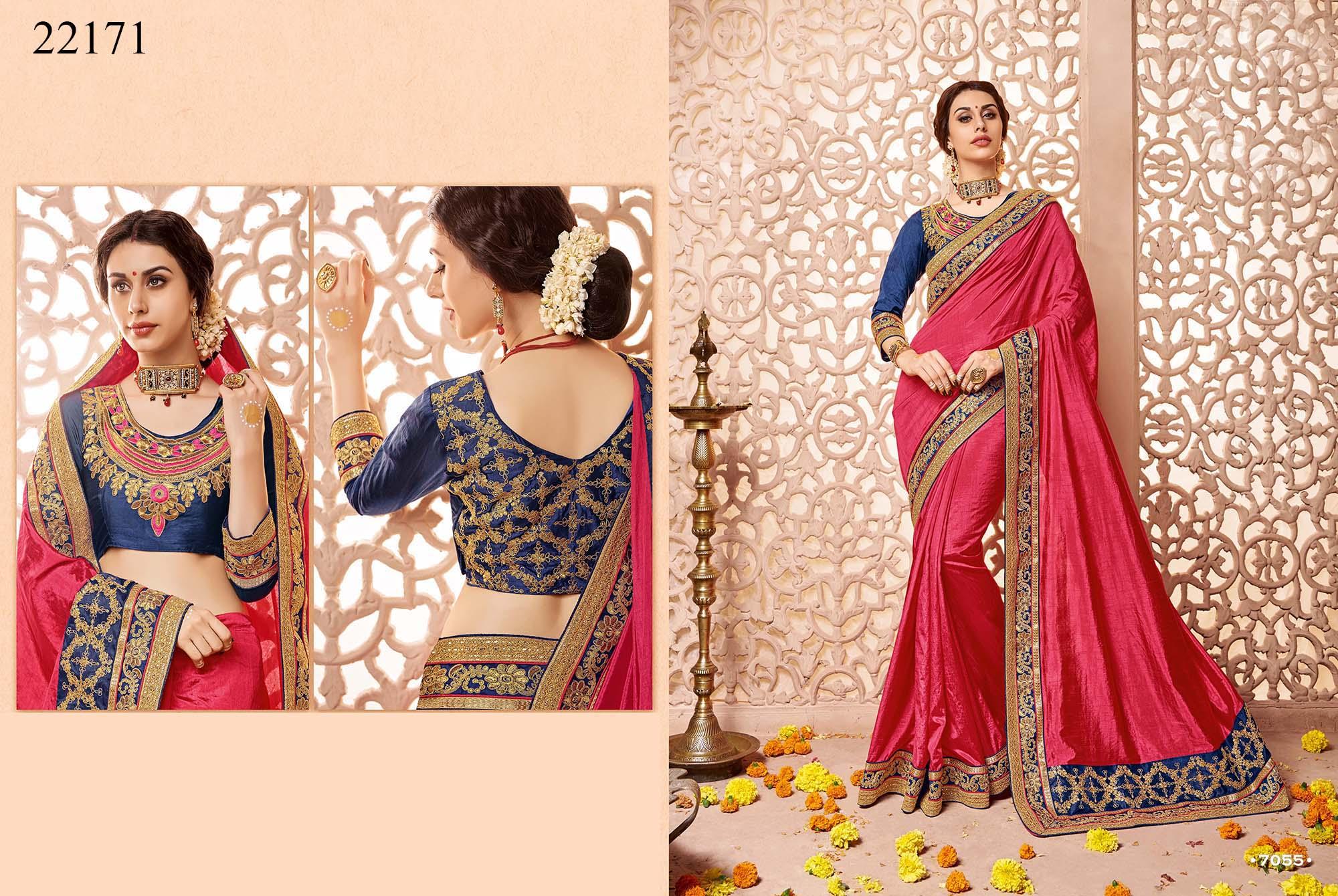 Newly Wedded Bridal Saree Dania 22171 | Bride Special