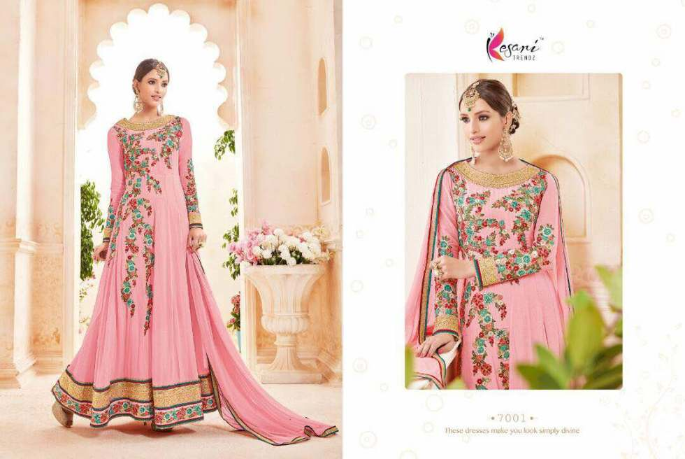 Kyra Floor Length Anarkali Suits 7001 A