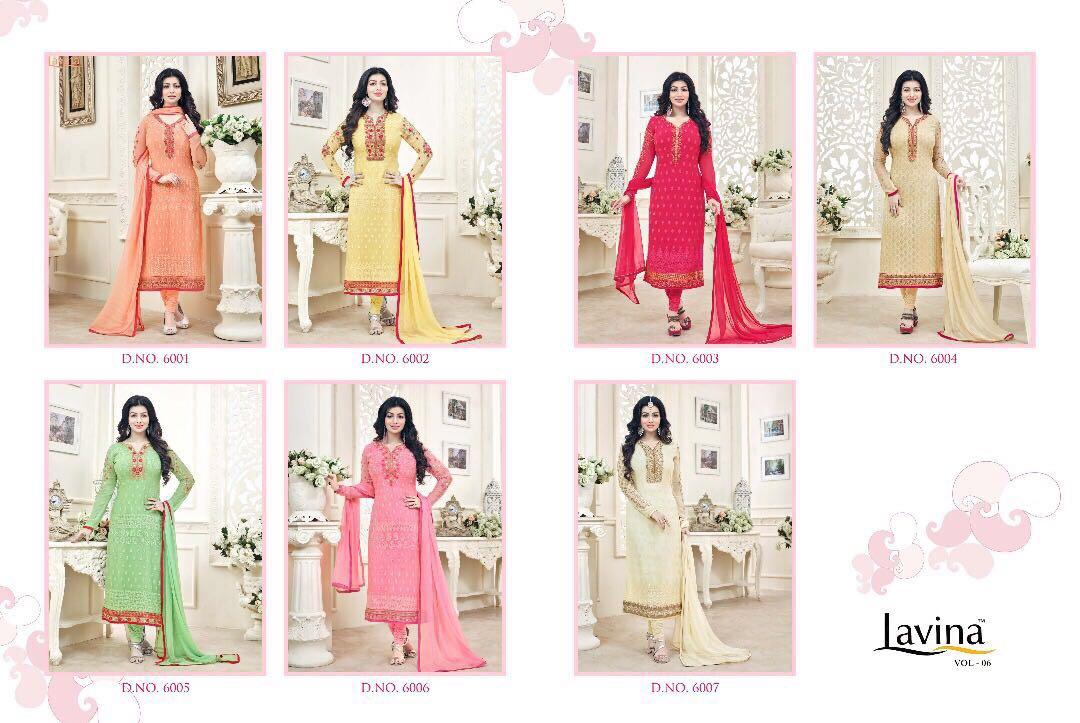 Shop Lavina vol 6 Churidar Dress MaterialOnline