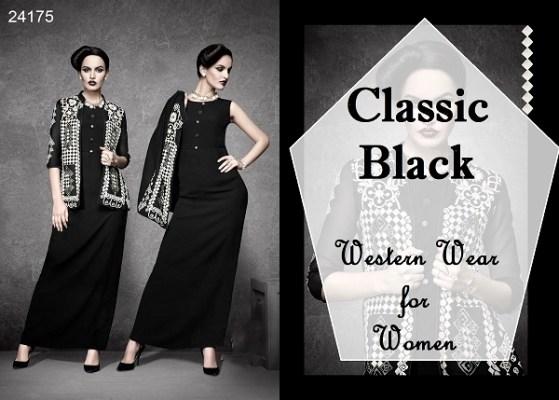 Classic Black western wear for women