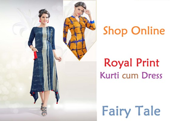 Fairy Tale Royal Print Kurti cum Dress