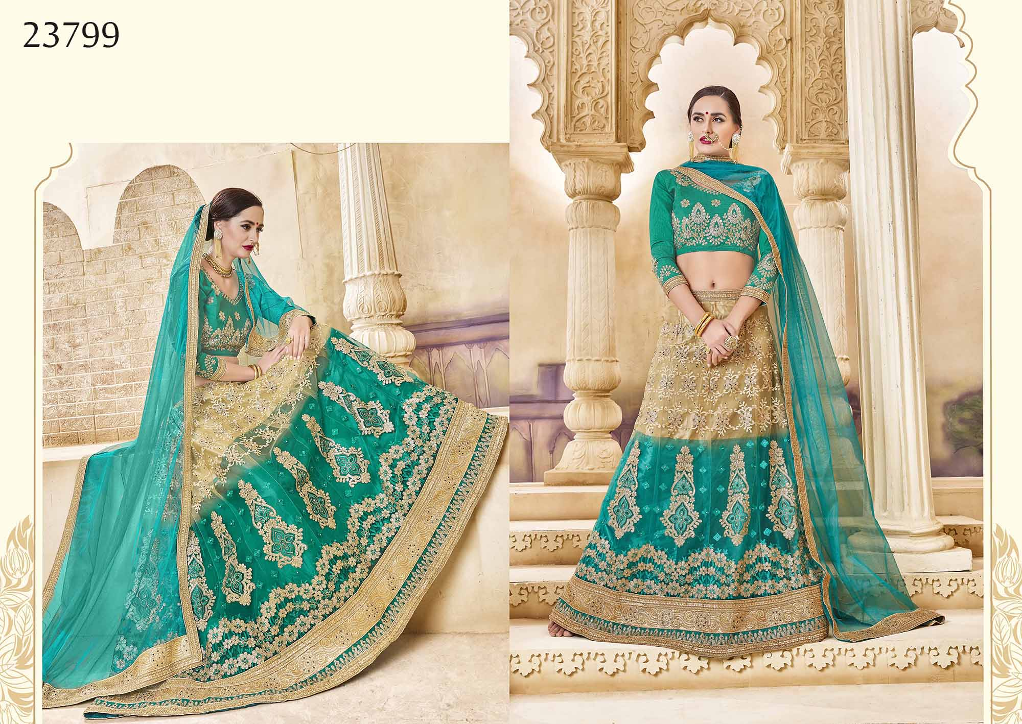 Royal bridal wear lehenga Irish 23799