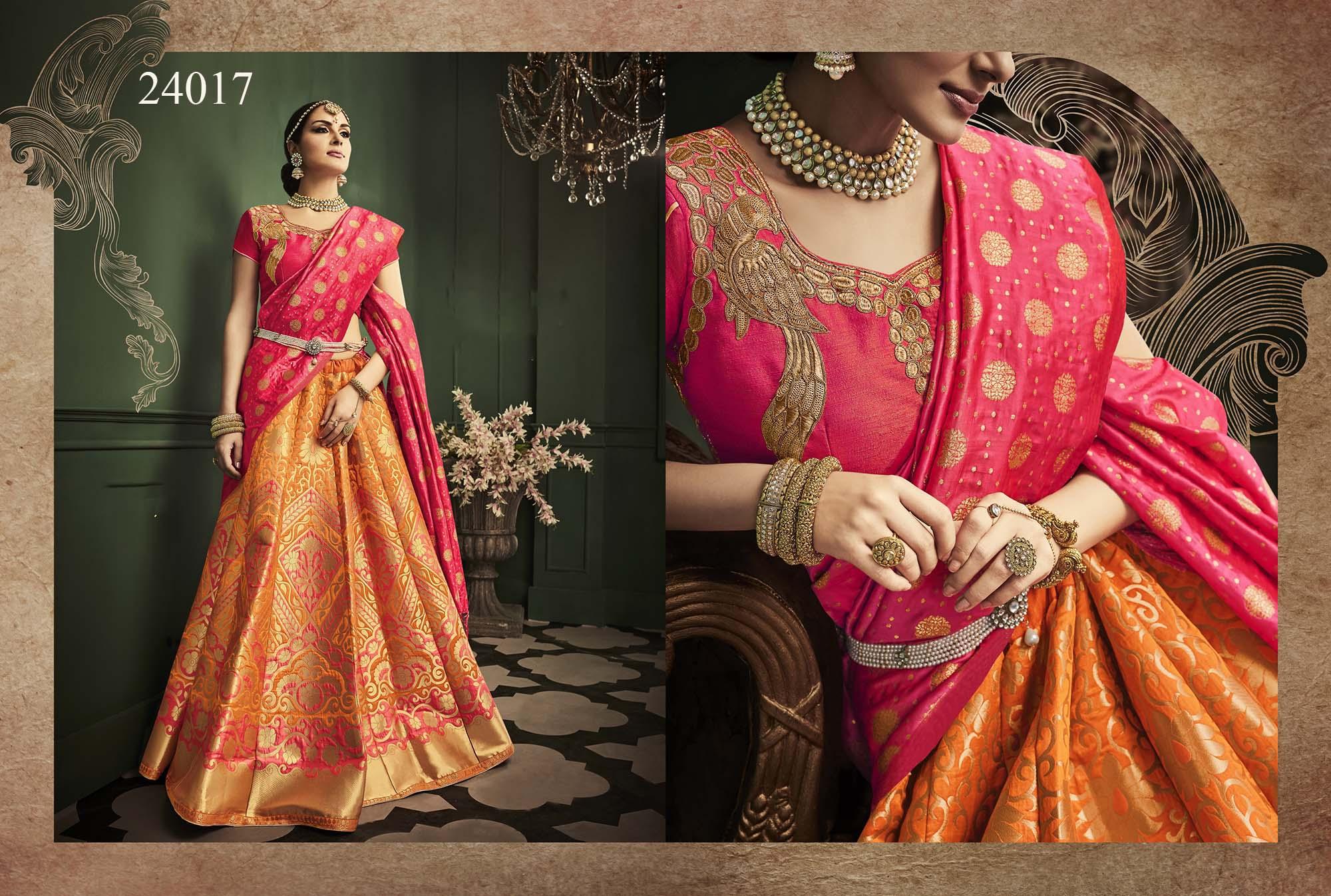 Kasak Banglori Silk Bridal Lehenga