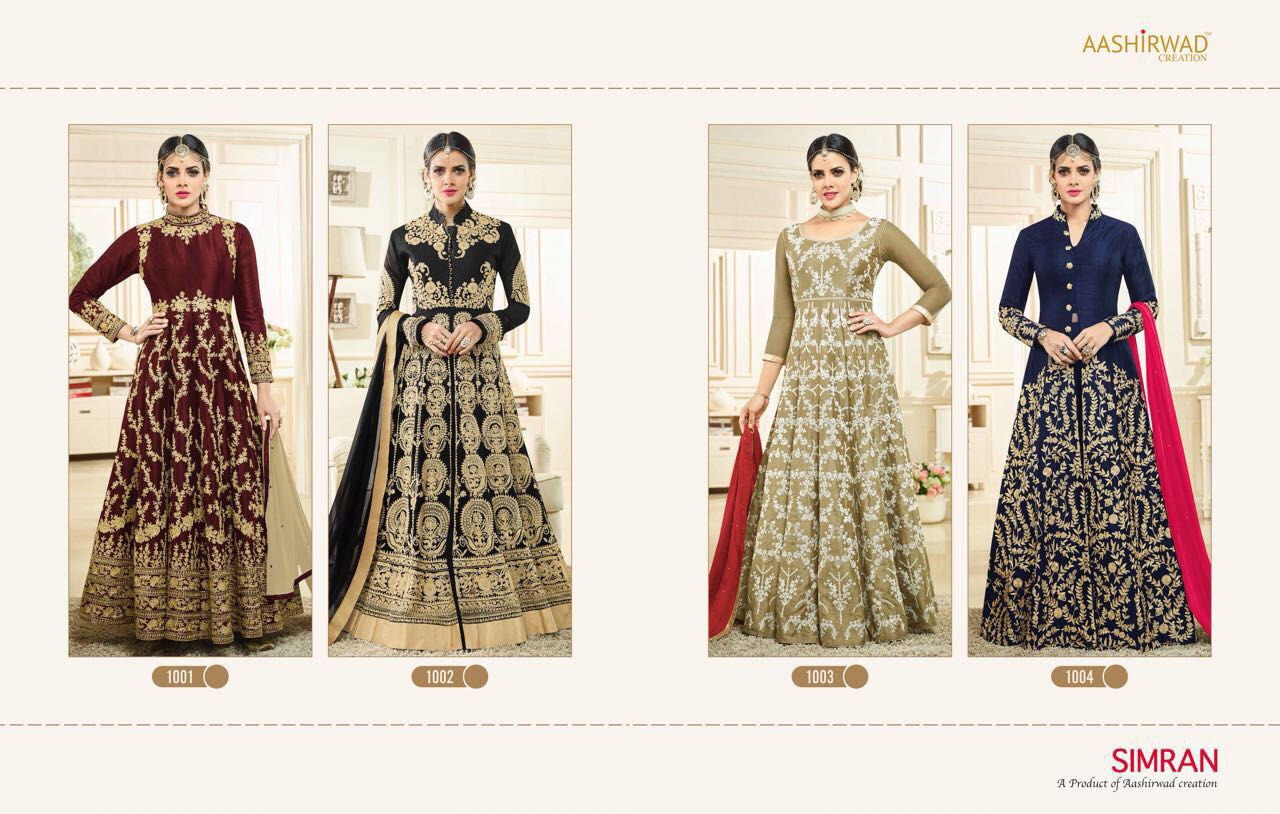 AAshirwad Creation Presents Simran Floor Length Anarkali Suits Online