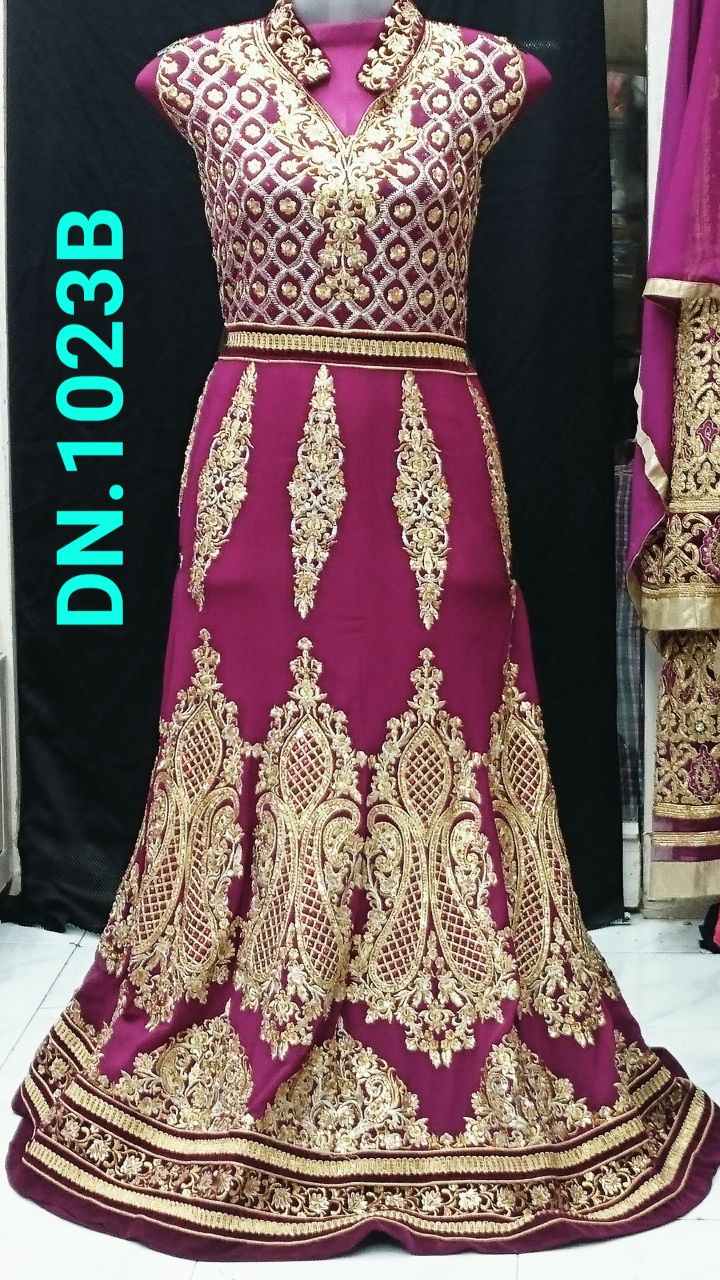 Heavy Kali Zari Work Suit 1023