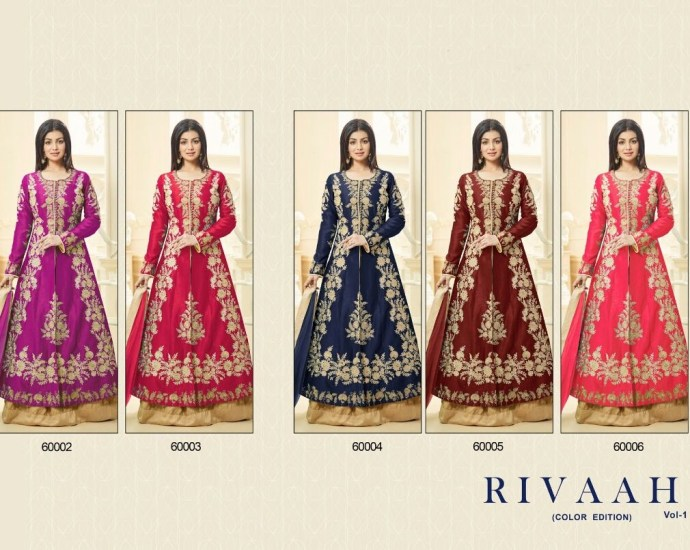 Hit Design in Colors Rivaah Lehenga Suits Volume 1