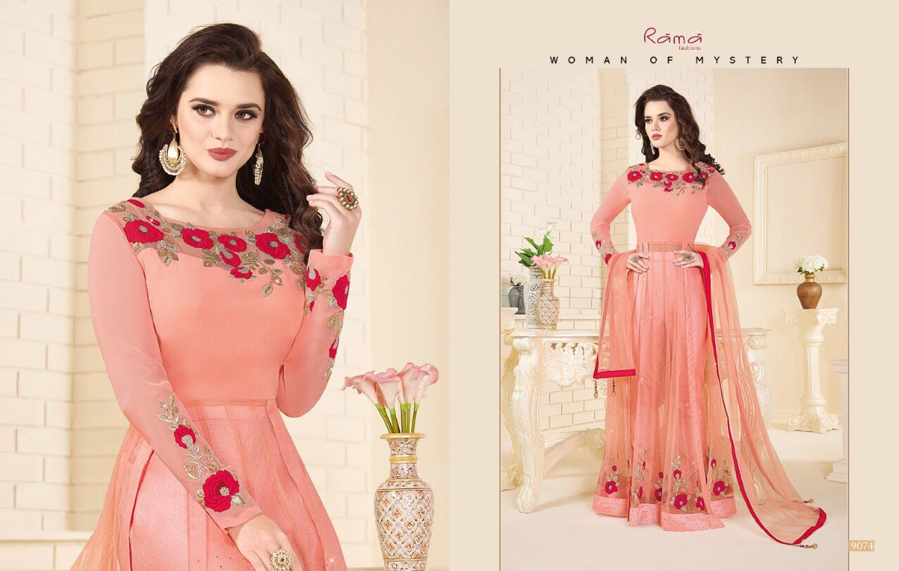 Rama Fashion presents Naaz Front open styled Designer Anarkali Suits