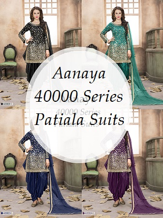 Aanaya 40000 Series Patiala Suits