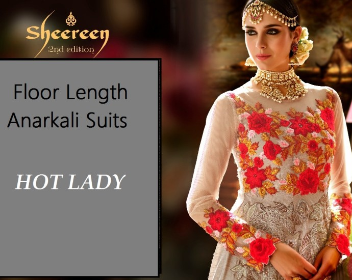 Hot Lady Sheereen 2nd Edition Floor Length Anarkali Suits Cover