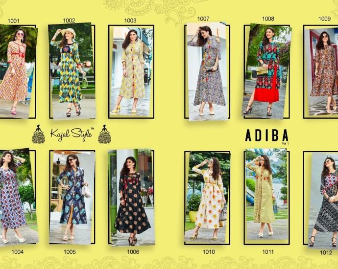 Kajal Style ADIBA VOL-1 Western Dresses
